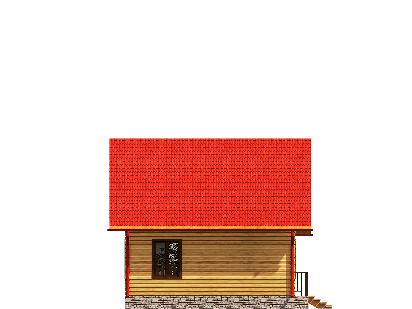 Проект дома из бруса 6,7х8 с мансардой. Разрез 4.