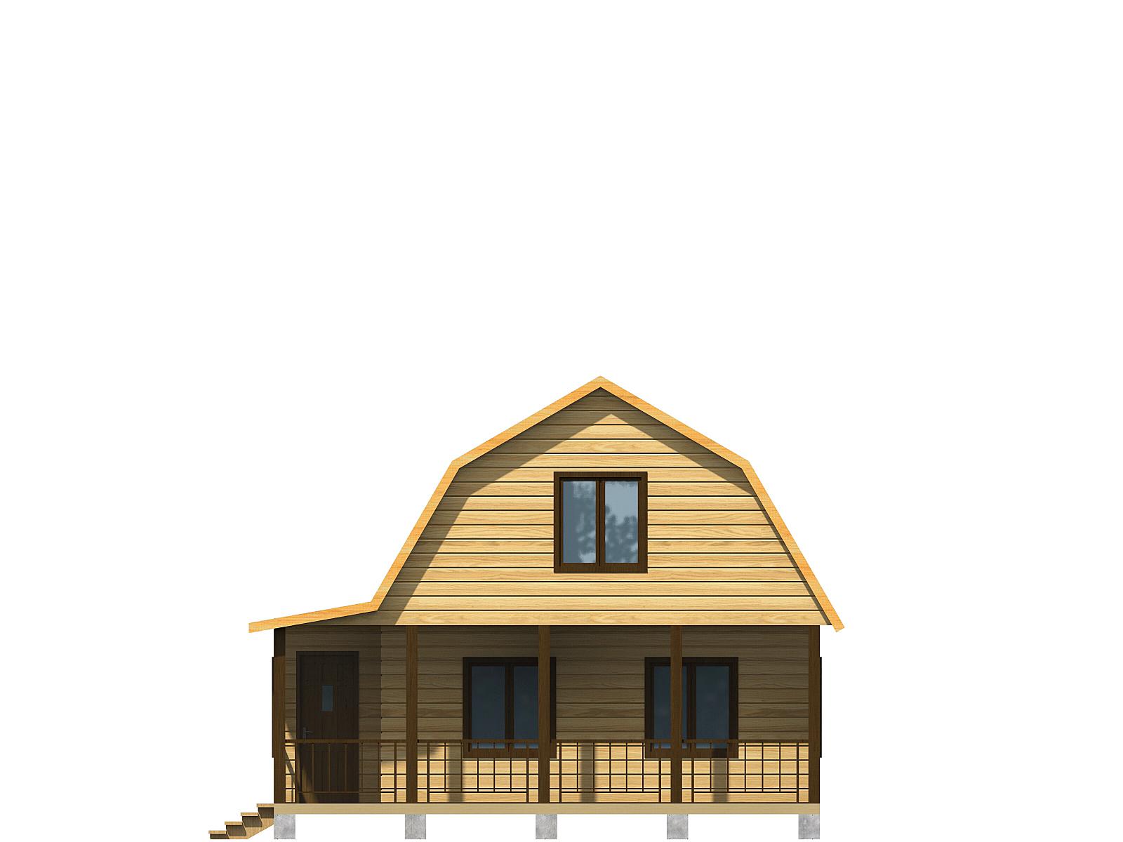 Проект дома из бруса 7.5х7.5. Разрез 1.