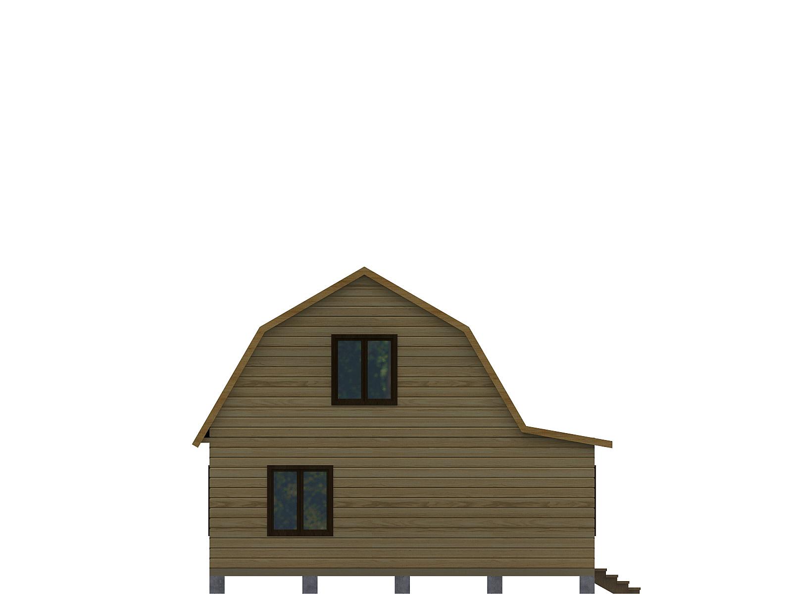 Проект дома из бруса 7.5х7.5. Разрез 2.