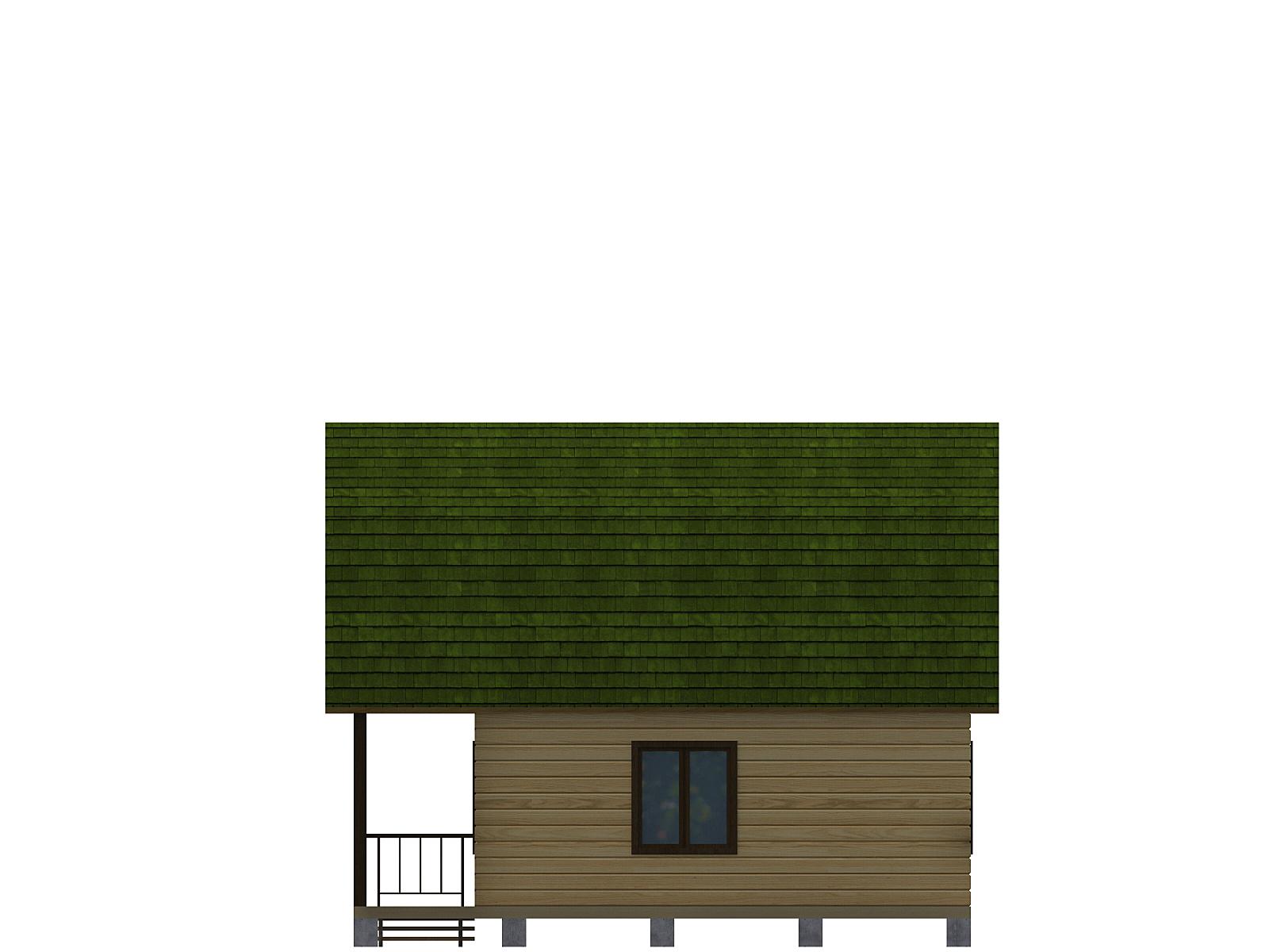 Проект дома из бруса 7.5х7.5. Разрез 3.