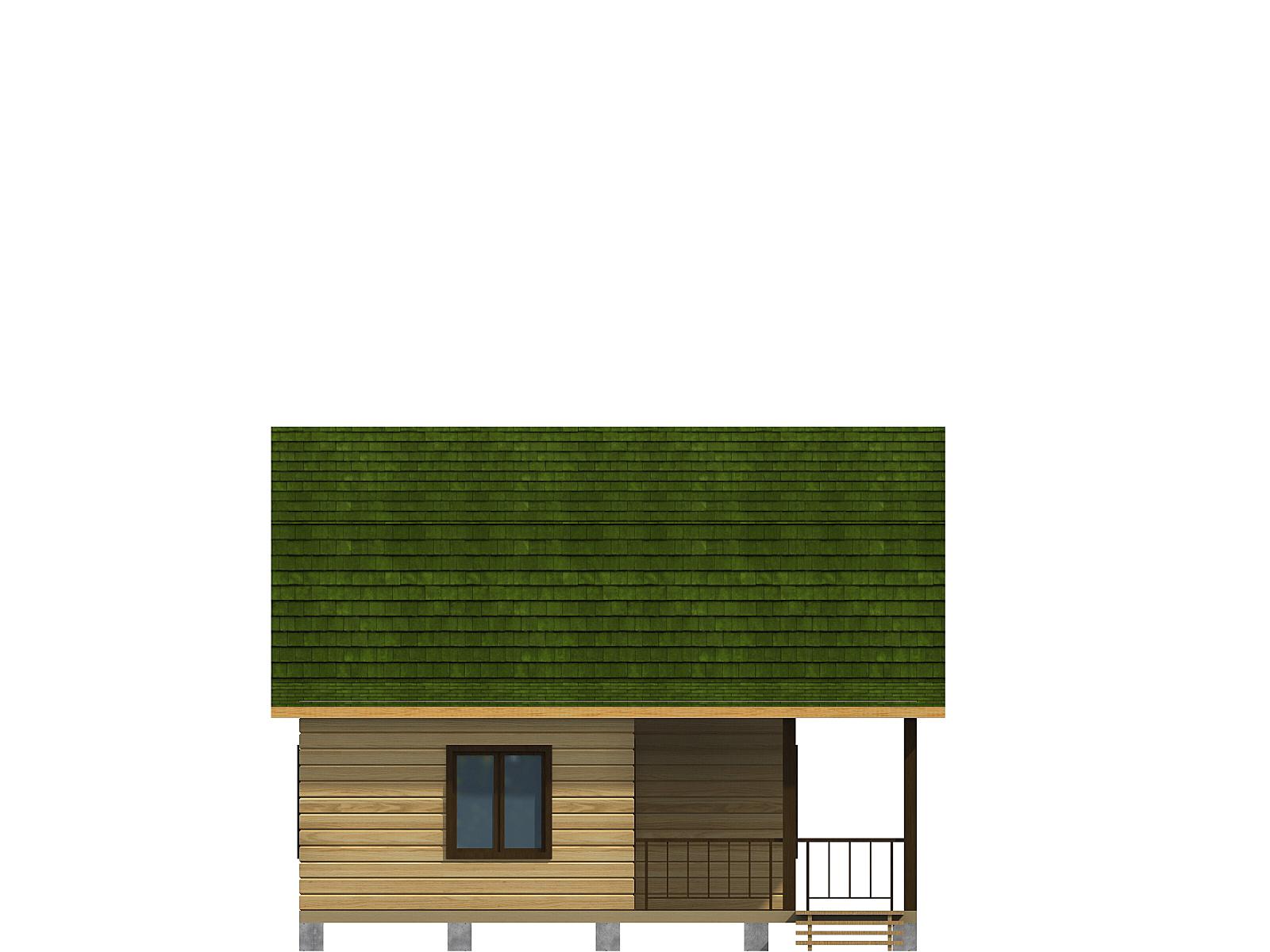 Проект дома из бруса 7.5х7.5. Разрез 4.