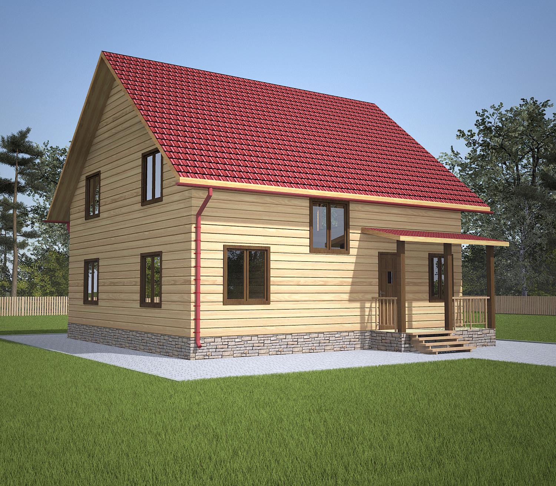 dom-iz-brusa-9x9-s-mansardoi-1.5-etazha -fasad2