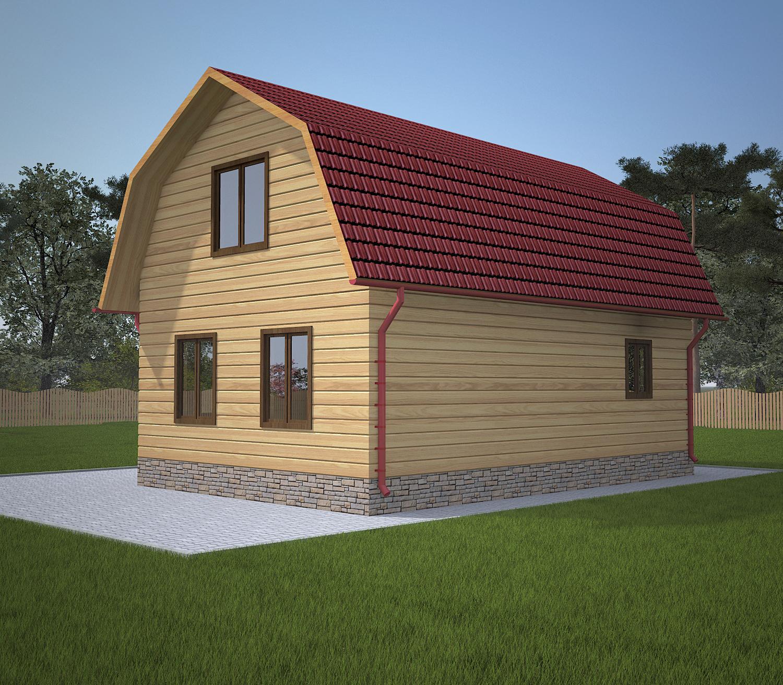dom-iz-brusa-6x9-s-mansardoi -fasad2