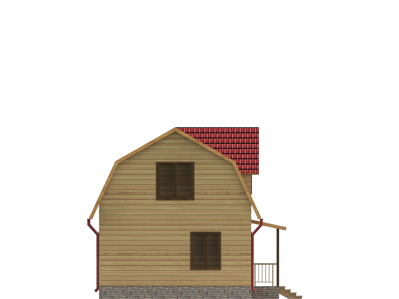 dom-iz-brusa-6x9-s-mansardoi -razrez2