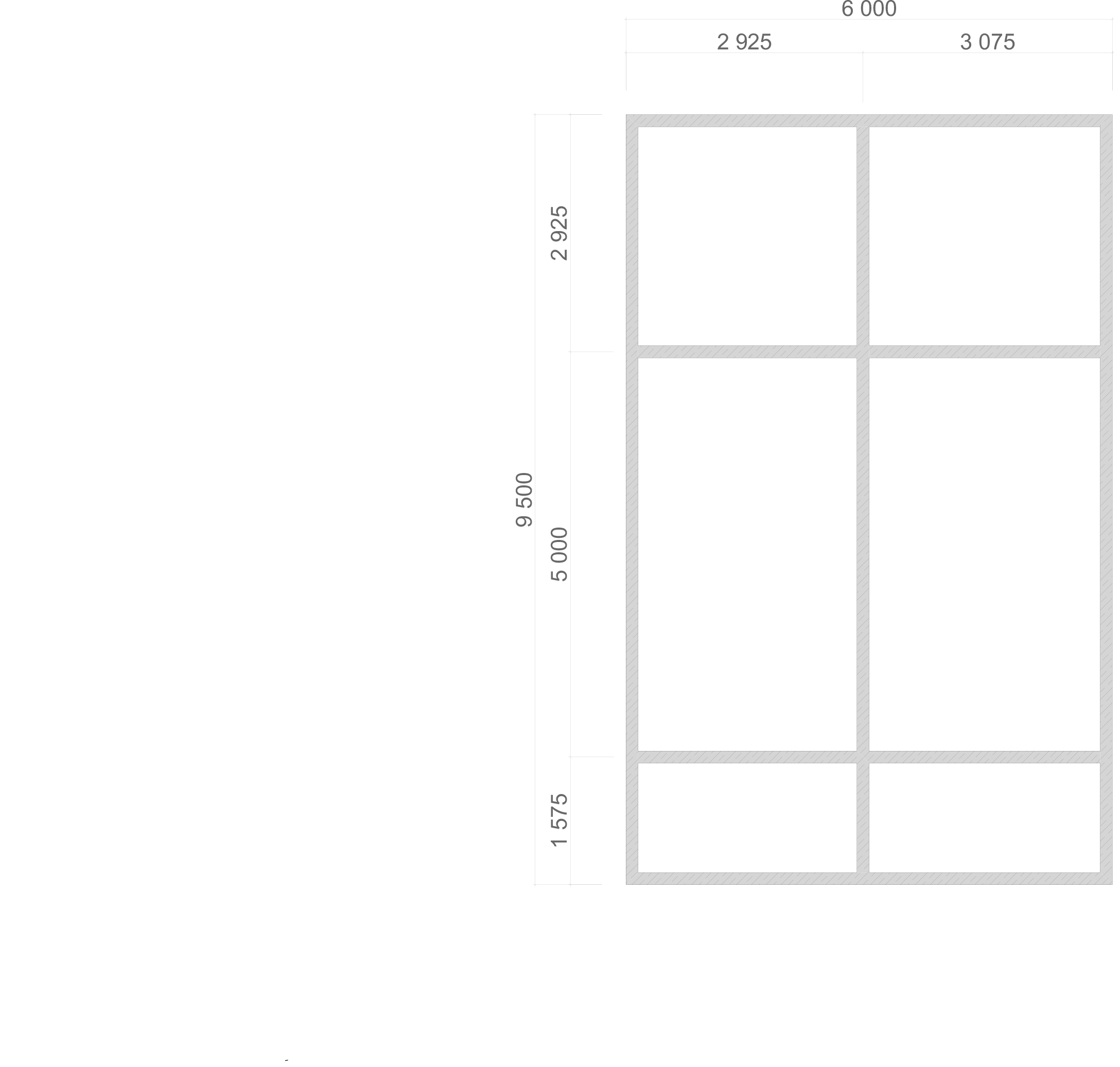 Проект дома из бруса 6х9,5 1,5 этажа с террасой и балконом. План фундамента.